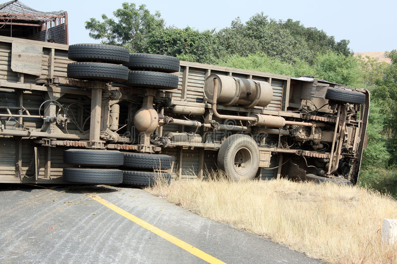 Accident de camion photo stock