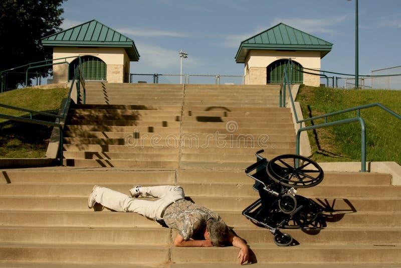 Accident de fauteuil roulant image stock