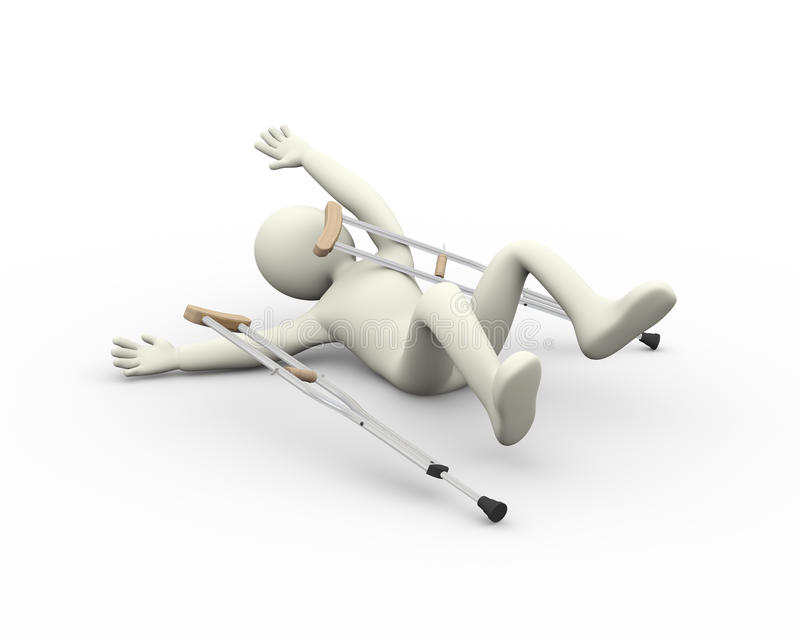 accident de l'homme 3d illustration de vecteur