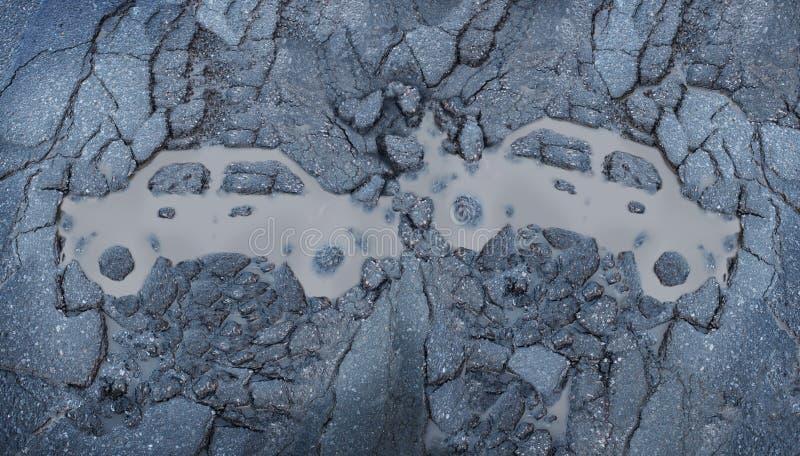 Accident de la circulation illustration de vecteur