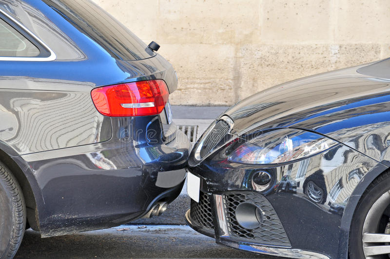 Accident de la circulation photo stock