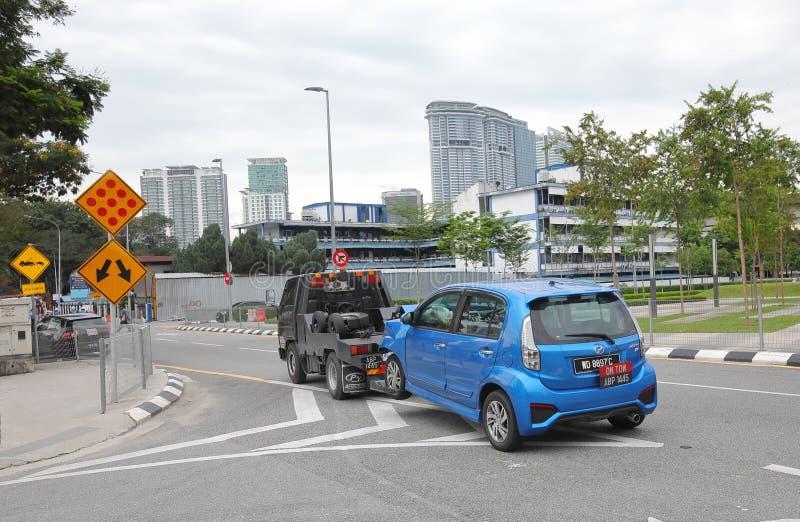Accident de la circulation Kuala Lumpur Malaysia images libres de droits