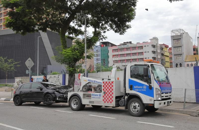 Accident de la circulation Kuala Lumpur Malaysia photos libres de droits