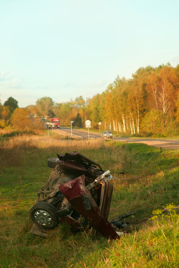 Accident de la route. photos stock