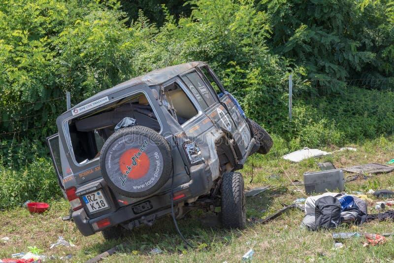 Accident de Suv photos libres de droits