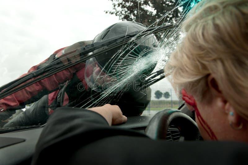 Accident de véhicule photo stock