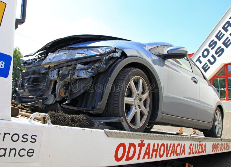 Accident de voiture image stock