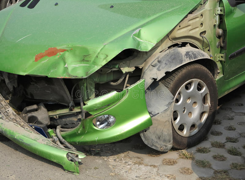 Accident de voiture image stock