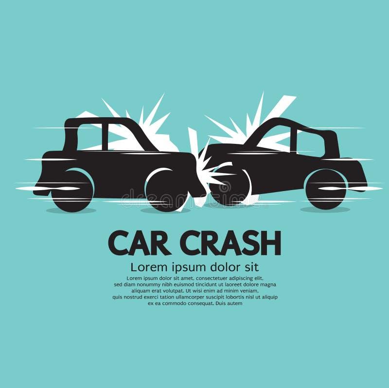 Accident de voiture. illustration libre de droits