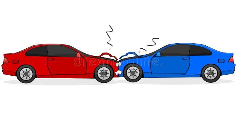 Accident de voiture illustration libre de droits
