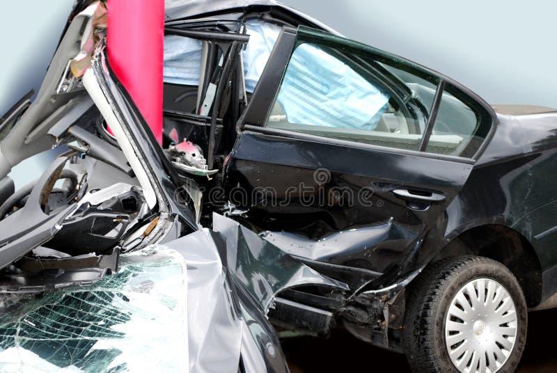 Accident de voiture condamné image libre de droits