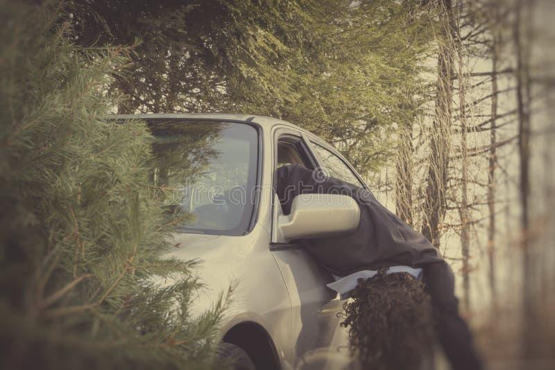 Accident de voiture de conduite en état d'ivresse image stock