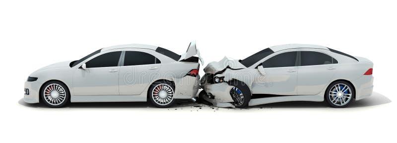 Accident de voiture deux illustration de vecteur