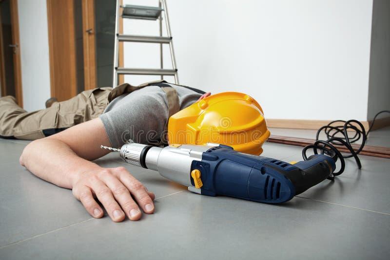 Accident du travail photo stock