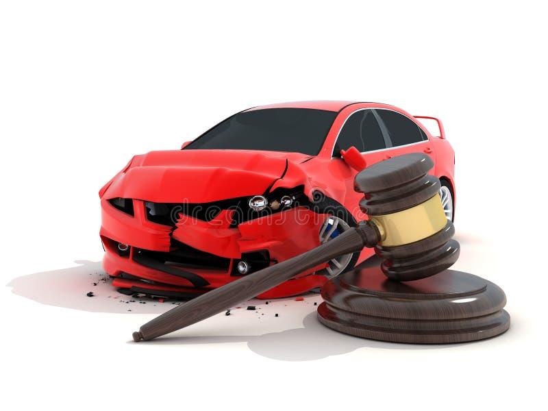 Accident et loi de voiture illustration libre de droits