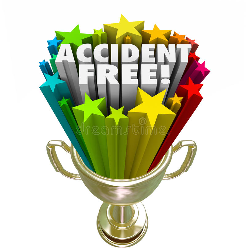 Accident Free Best Safety Record Trophy Prize Award Stock ...