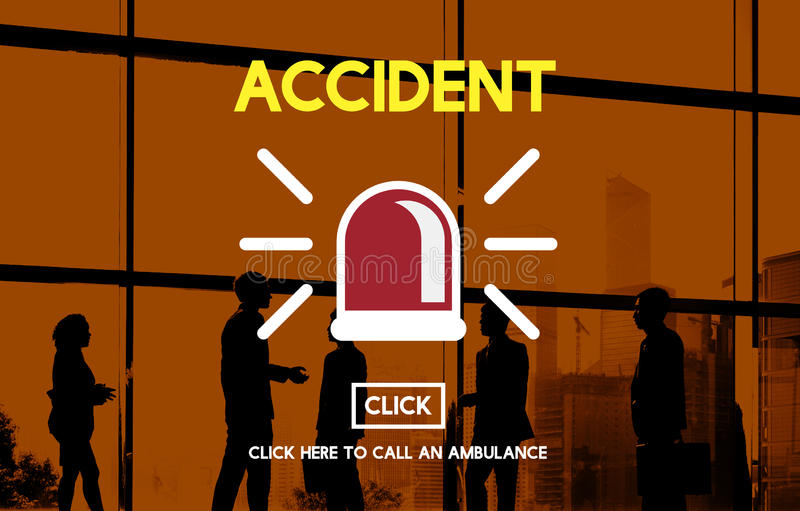 Accident Hospital Danger Life Concept stock image