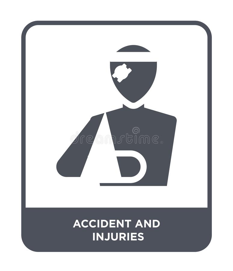 accident and injuries icon in trendy design style. accident and injuries icon isolated on white background. accident and injuries royalty free illustration