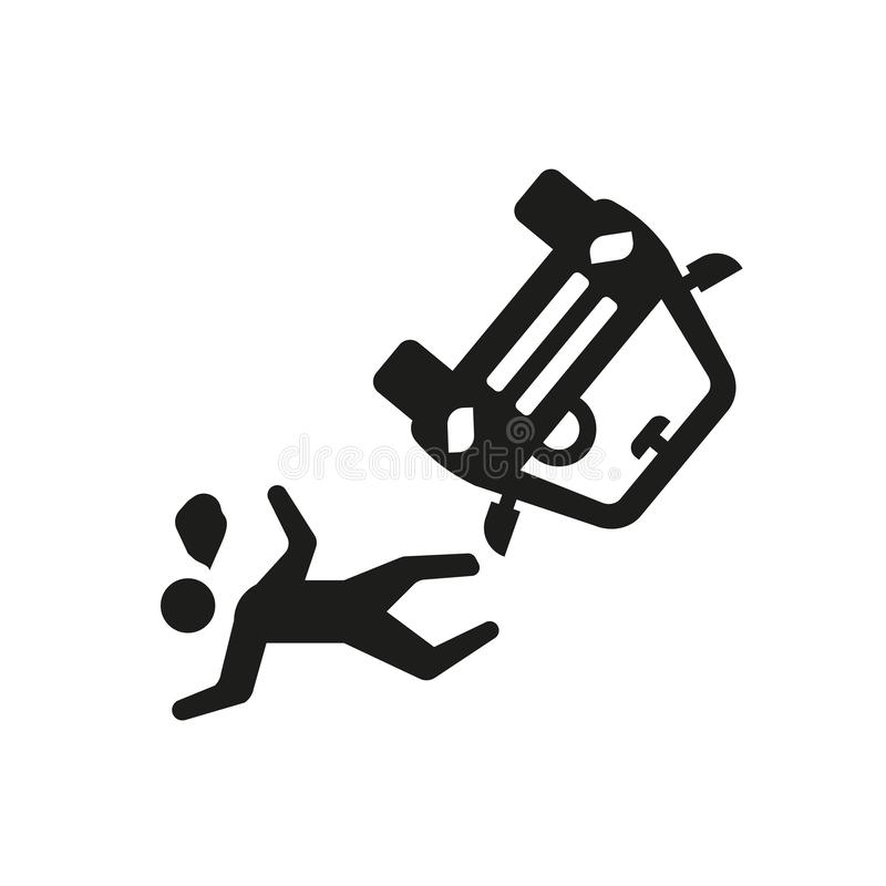 accident and injuries icon. Trendy accident and injuries logo co vector illustration