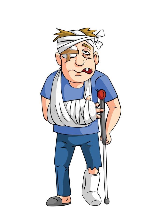 Accident man stock illustration