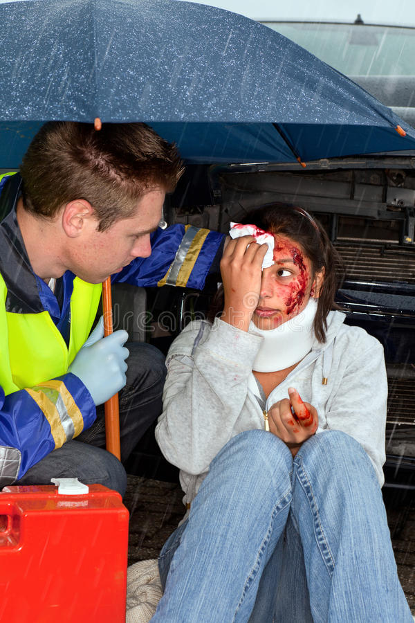 Download Accident in the rain stock image. Image of rescue, patient - 20310759