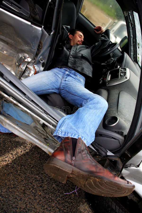 Accident Recomposition Stock Photo