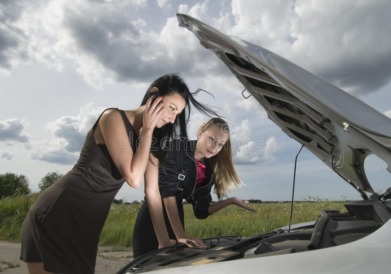Download Accident on a road stock image. Image of motor, hood - 14941373