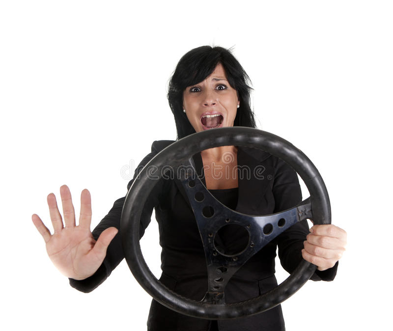 Accident woman stock image