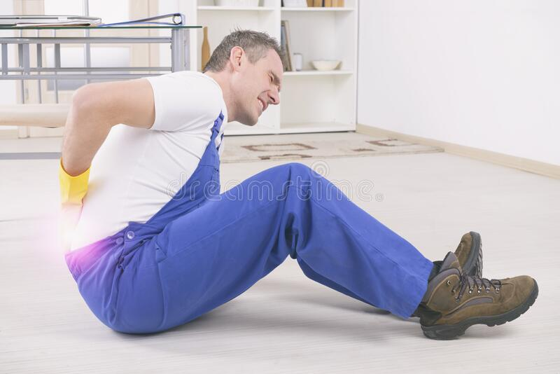 Accident at work stock image