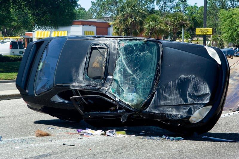 Accidente auto imagen de archivo