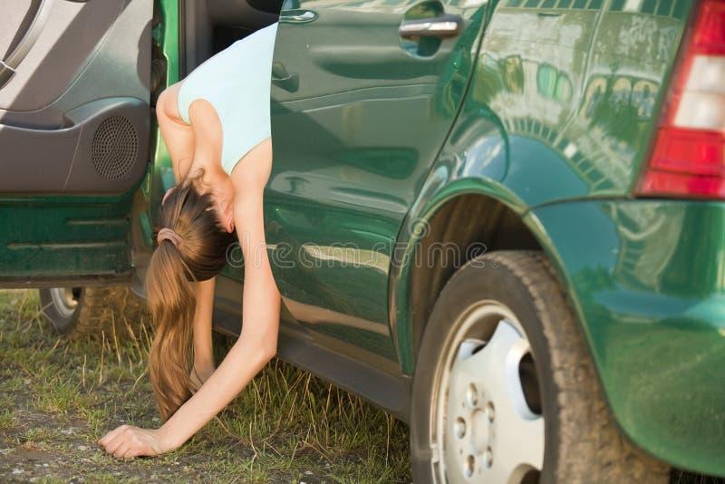 Accidente con el coche foto de archivo libre de regalías