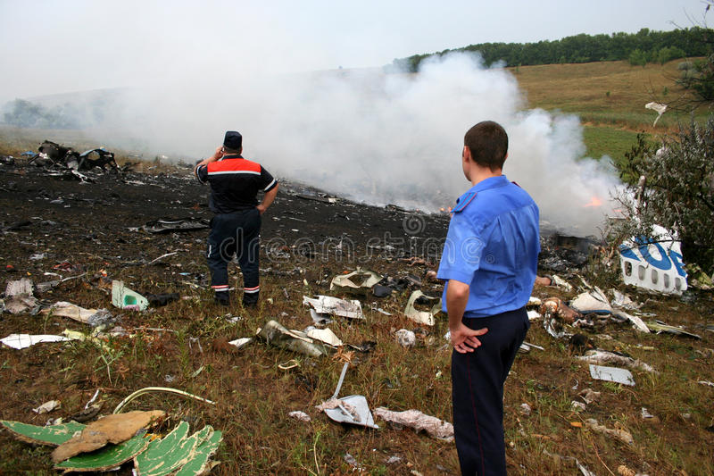 Accidente de avión imagenes de archivo