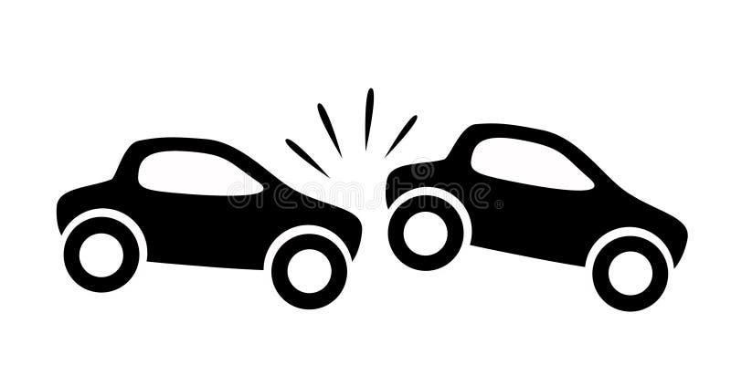 Accidente de tráfico stock de ilustración