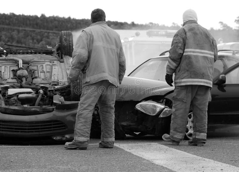Accidente de tráfico. imagen de archivo libre de regalías
