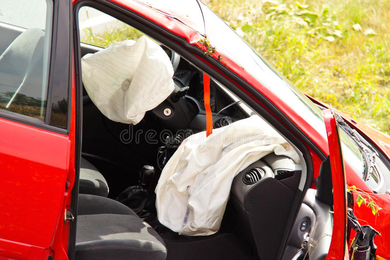 Accidente de tráfico. Coche imagenes de archivo