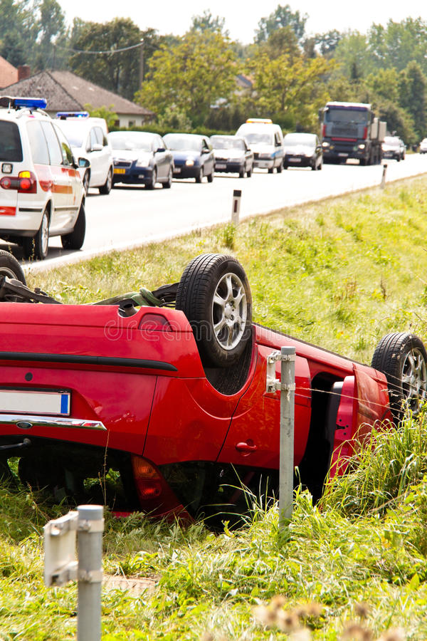 Accidente de tráfico. Coche fotografía de archivo libre de regalías