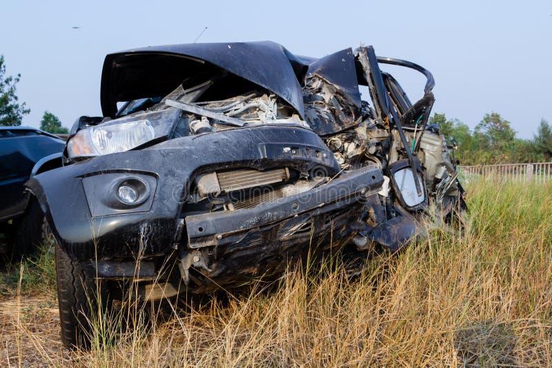 Accidente de tráfico del salvamento imagenes de archivo