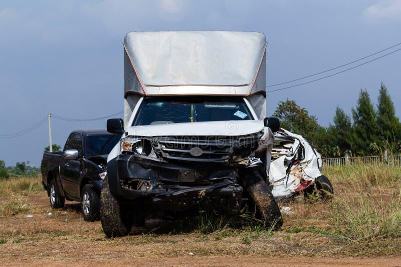 Accidente de tráfico del salvamento imagen de archivo libre de regalías