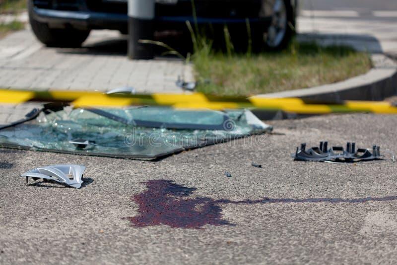 Accidente de tráfico serio fotografía de archivo