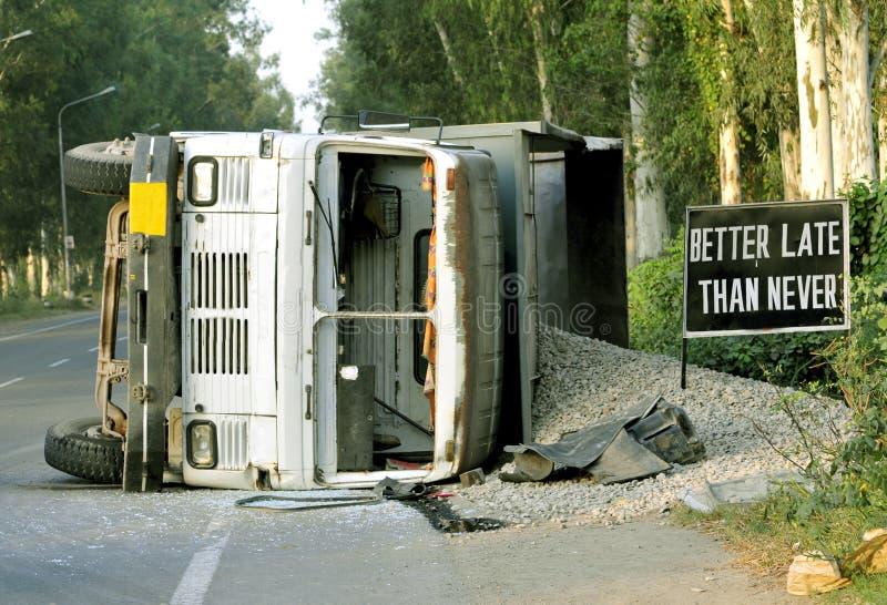 Accidente del carro foto de archivo