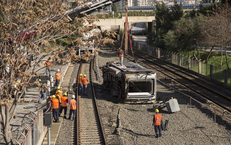 Accidente del metro imagenes de archivo