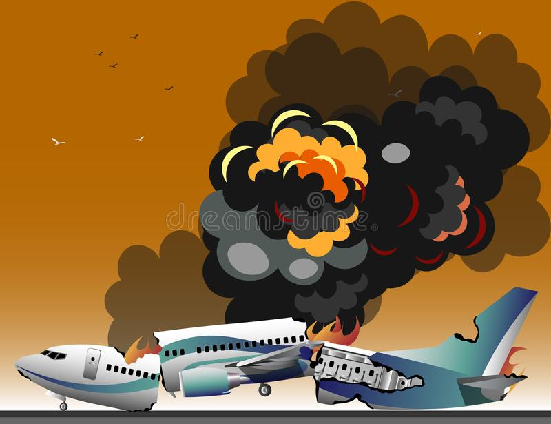 Accidentes de aviones libre illustration