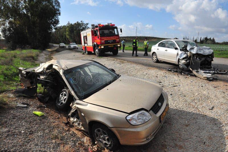 Accidentes de tráfico en Israel foto de archivo