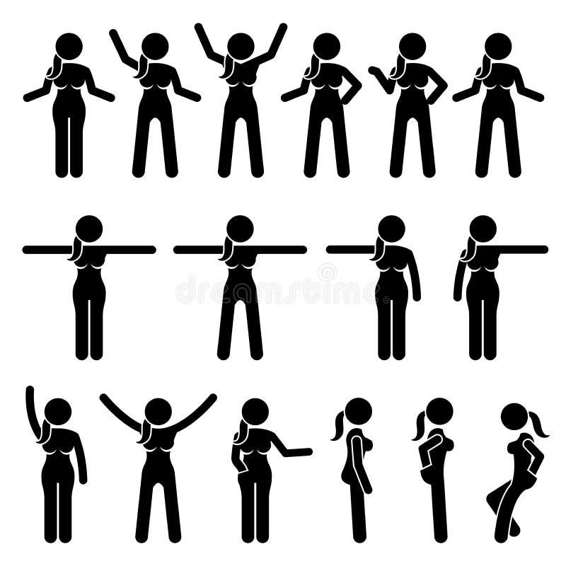 Acciones derechas y movimientos de la mujer básica libre illustration