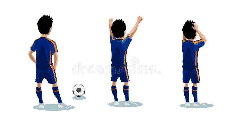 Acciones en el campo (fútbol) - ejemplo del vector foto de archivo