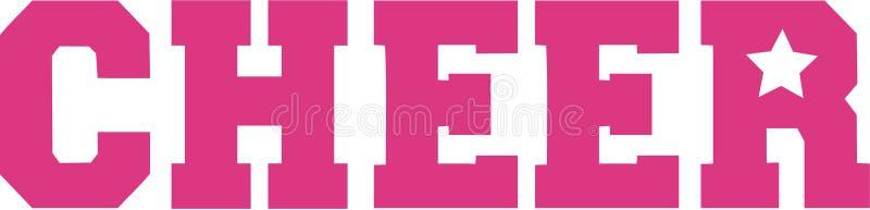 Acclamation Cheerleading de mot illustration de vecteur