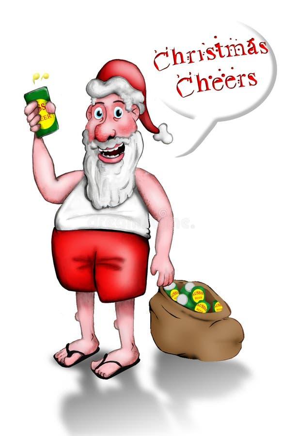 Acclamations de Noël illustration libre de droits