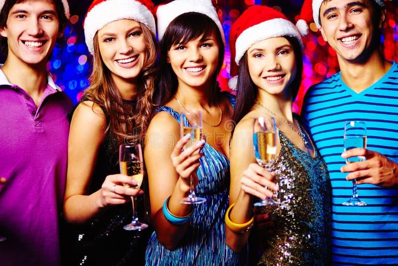 Acclamations de Noël image stock