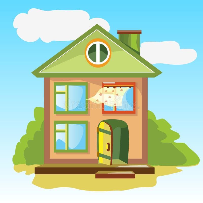 Accoglienza a casa con una porta aperta illustrazione - Architetto porta ...