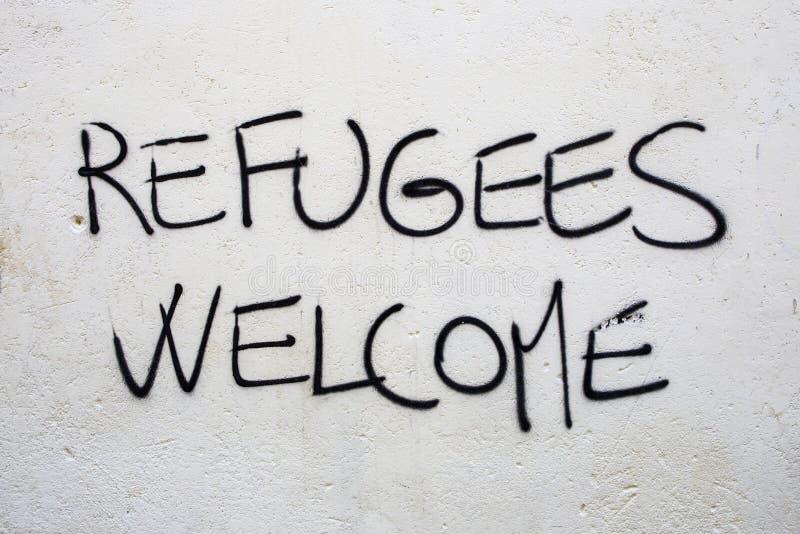 Accoglienza rifugiati immagini stock libere da diritti